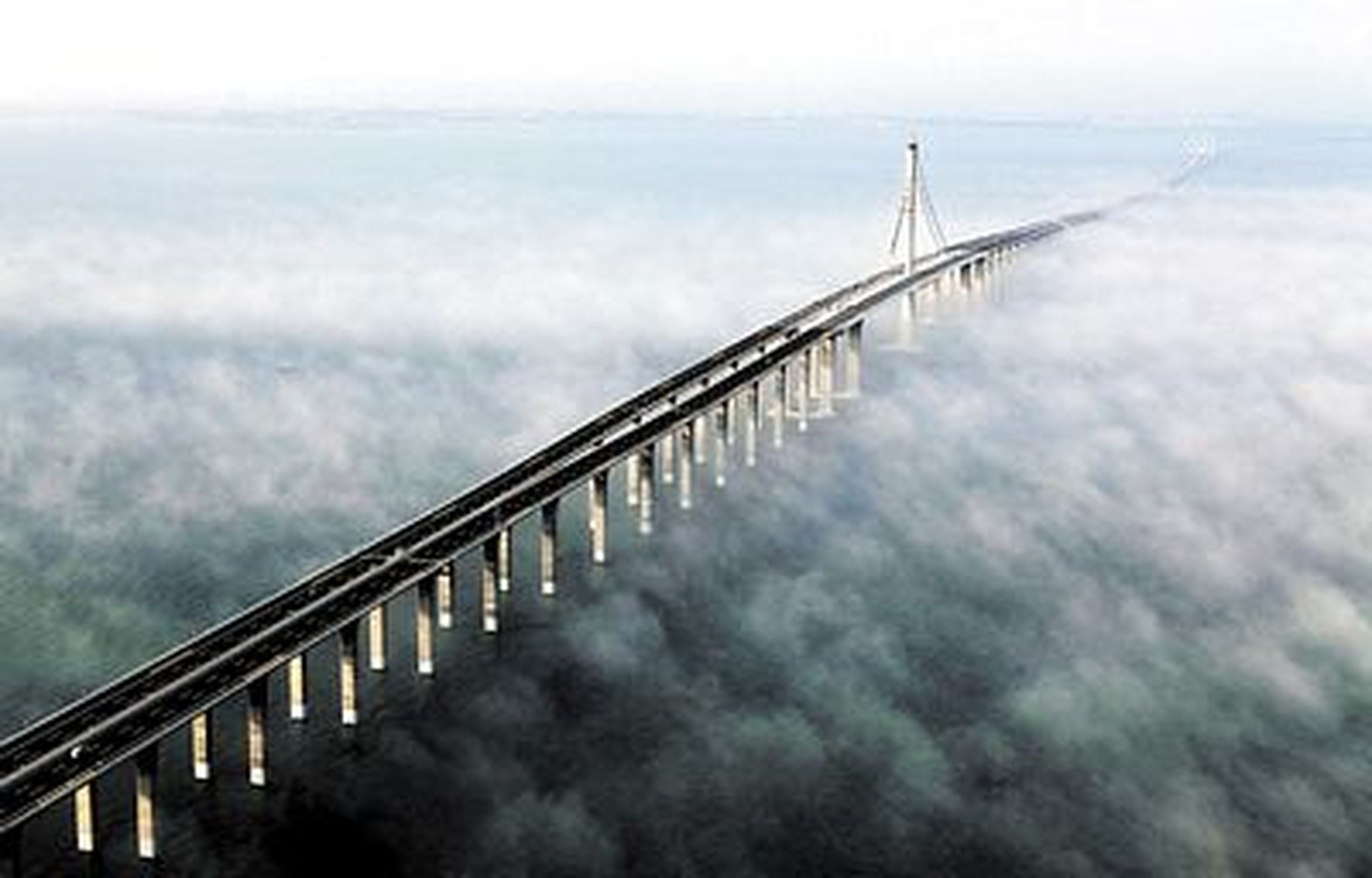 bridge - man made structure, fog, railing, outdoors, sea, day, water, nature, no people, sky