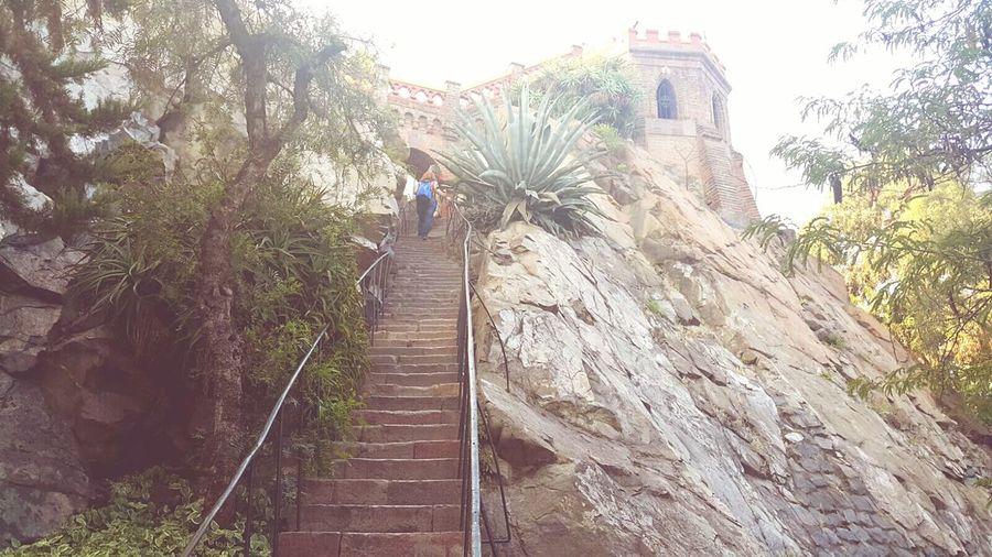Cerro Santa Lucia Nature Cerrosantalucia Chile Mirador Santiago De Chile Escaleras Altura Cerro Santalucia Vista Ciudad Rocas Piedras