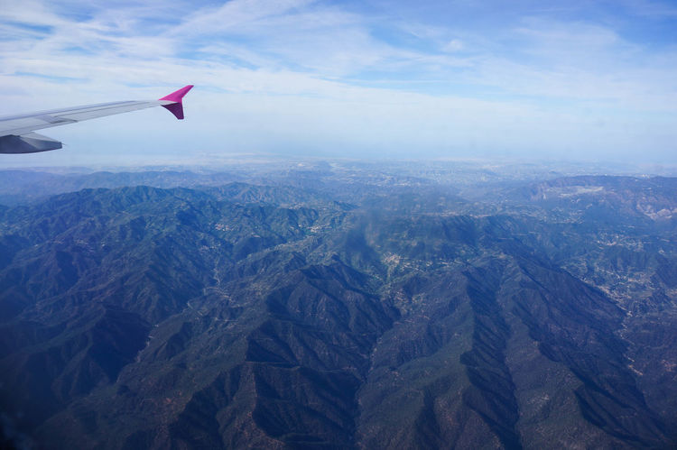 Aerial View Aircraft Wing Airplane Birds Eye View Cyprus Flying From Above  From An Airplane Window Landscape Mountain Mountain Range Mountains Sky Travel Travel Photography Traveling Troodos View Wing Plane Wing An Eye For Travel
