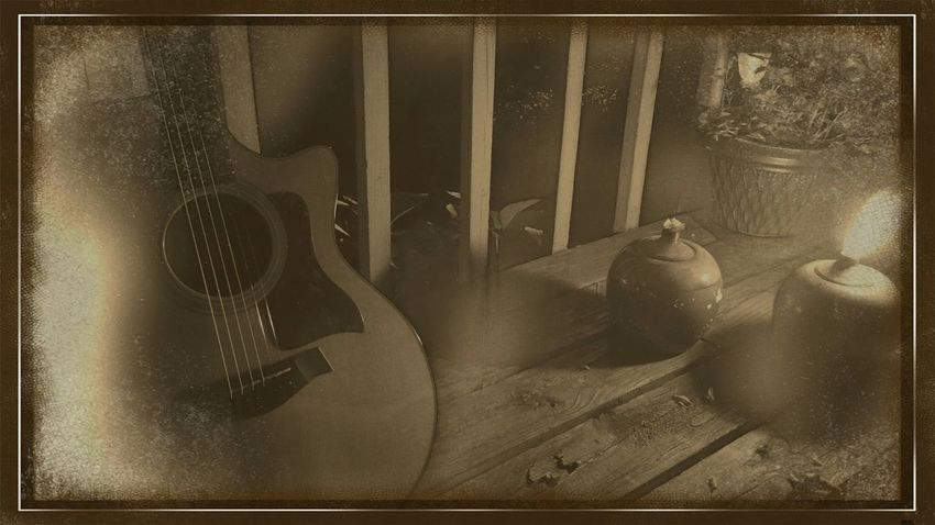 Taylorguitar Taylor314ce Guitar Sepia Latenight Relaxing Hanging Out Check This Out Notes From The Underground Playing Guitar
