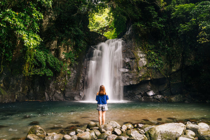 woman in nature Adventure Beauty In Nature Full Length Legazpi City Nature One Person One Woman Only Outdoors Philippines Scenics Standing The Great Outdoors - 2017 EyeEm Awards Vacations Vera Falls Water Waterfall EyeEmNewHere Place Of Heart