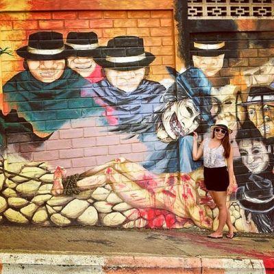 Mural Manabí AllYouNeedIsEcuador asesinato de EloyAlfaro