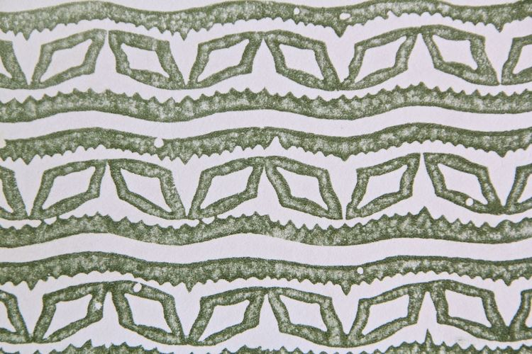 Pattern Pattern White And Green 60's