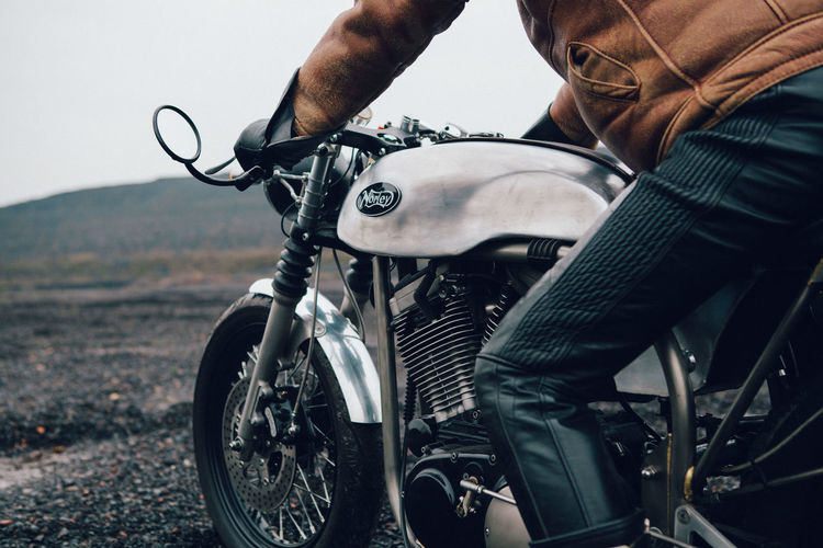 A man, a motorcycle with a tank almost dry, and a heap in the north of France. Bikers Black Background Boots GrungeStyle Motorcycle Nature Tree Biker Life Grunge Holding Lifestyles One Person Outdoors Vintage