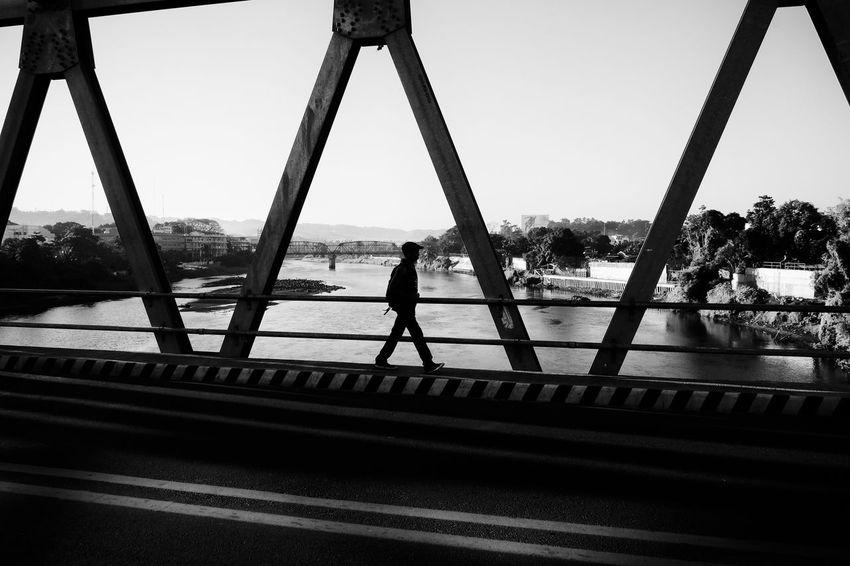 Fujifilm X-E2 + XF18mm. Dec 2015. JR Borja bridge, CDO. Eyeem Philippines Street Photography Monochrome Black And White Photography Fujifilm X-E2 Xf18mm Up Close Street Photography The Street Photographer - 2016 EyeEm Awards Monochrome Photography