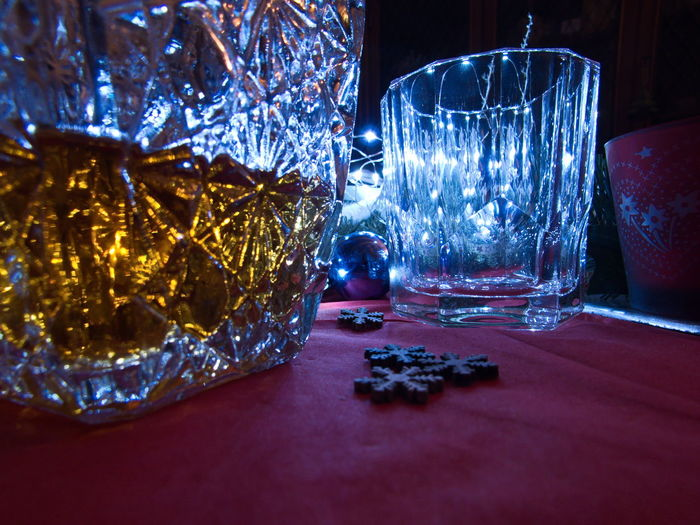 Ambient Light Glass Art Glass Objects  Gold And Blue Waiting For The Bell Whisky Ambiance Ambient Close-up Decorations Drinking Glass Glass Glass - Material Glass Reflection Gold Colored Gold Water Indoors  Joy Joy Of Life Joyful Moments Night Still Life Table Where Are You? Whiskey