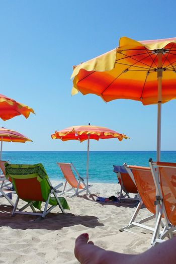 Beach Life Holiday POV Holiday Memories Holiday And Relaxing Blue Blue Sea Sunshades Sun Chair White Sandy Beach Ladyphotographerofthemonth Calabria (Italy) Best Beaches Wonderful Colours Eyeem Collection The EyeEm Collection Place Of Heart Done That.
