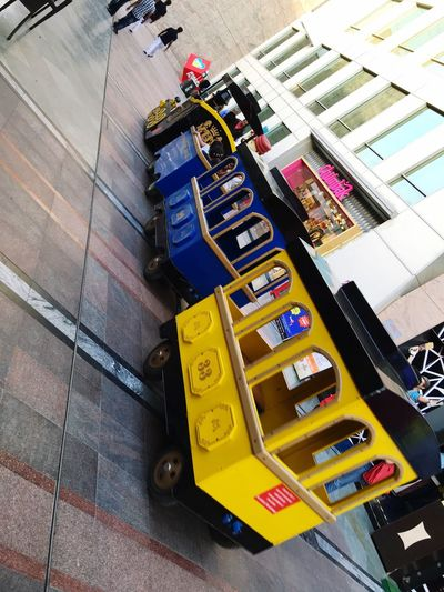 Cyber hub gurgaon Yellow Multi Colored Outdoors Land Vehicle Kids Train