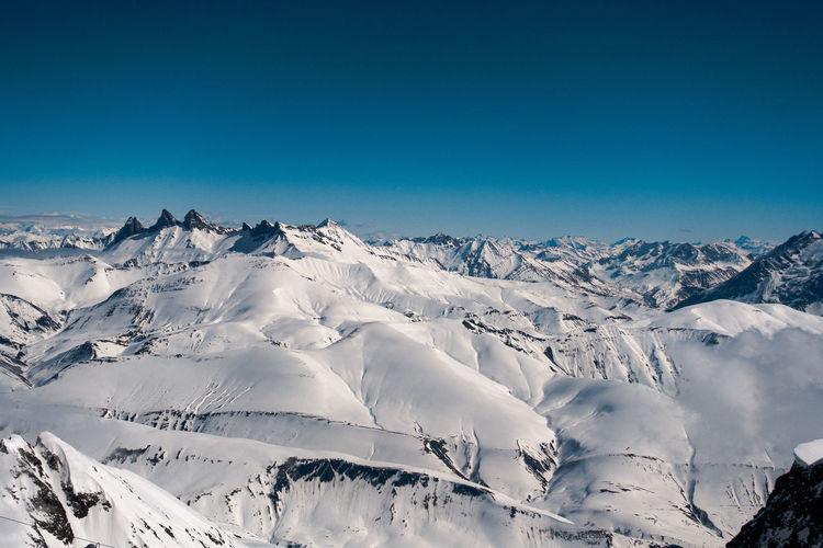 Sea of snow mountains.
