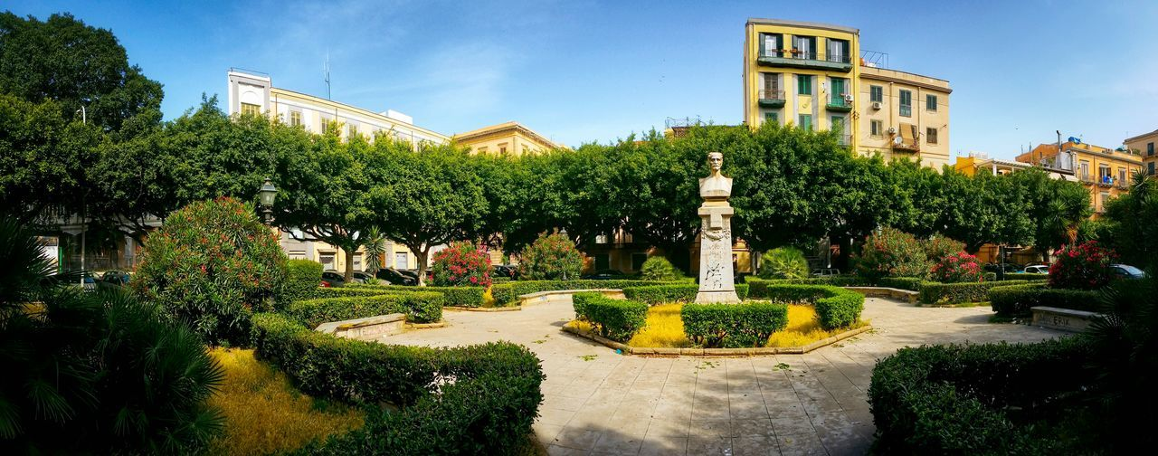 Piazza Sant'oliva Hidden Pearls Palermo Sicily Italy Travel Photography Travel Voyage Traveling Mobile Photography Fine Art Panoramic Views Architecture Squares Public Gardens Statues
