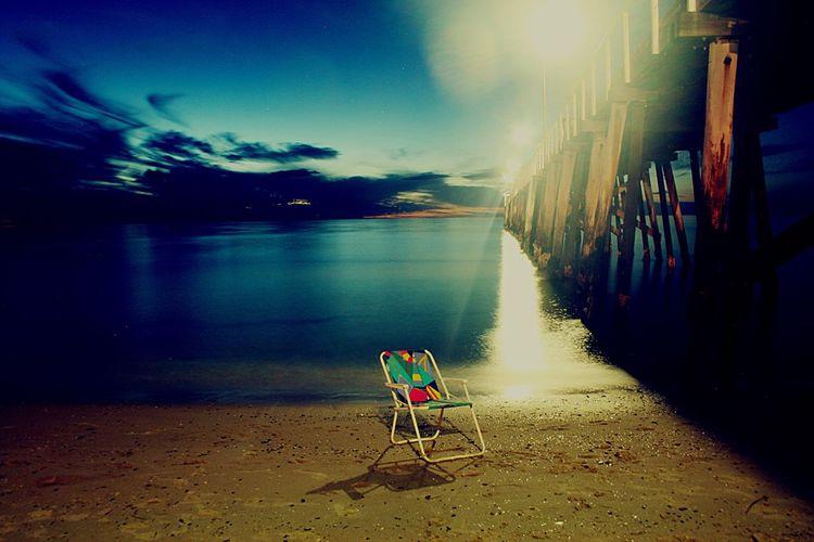 Jetty at dusk Chair Beach Jetty Dusk