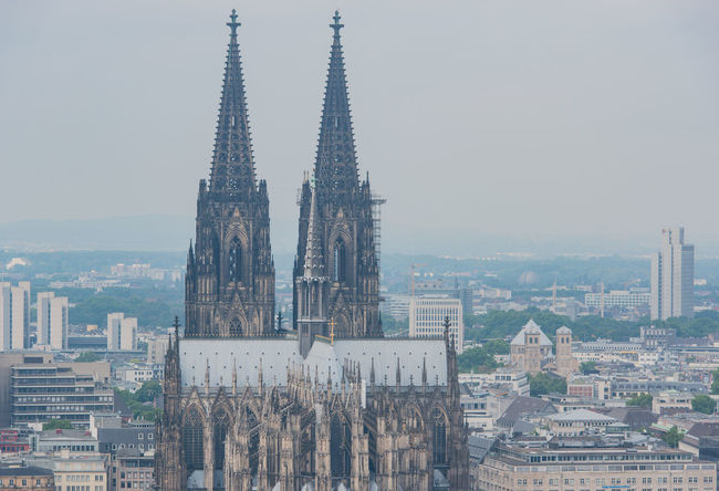 Cologne Cathedral and Hohenzollern Bridge Architecture Big City Cathedral Catholic Christian Church City Cologne Cologne Cathedral, Germany Hohenzöllern Bridge Hohenzöllern Bridge Panorama Rhine Skyline Station Bridge Building Cologne Cathedral Landmark Religion Tourism