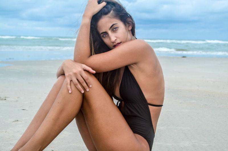 Beach Colombian  Farah Model Ocean Pawleys Island Photography South Carolina