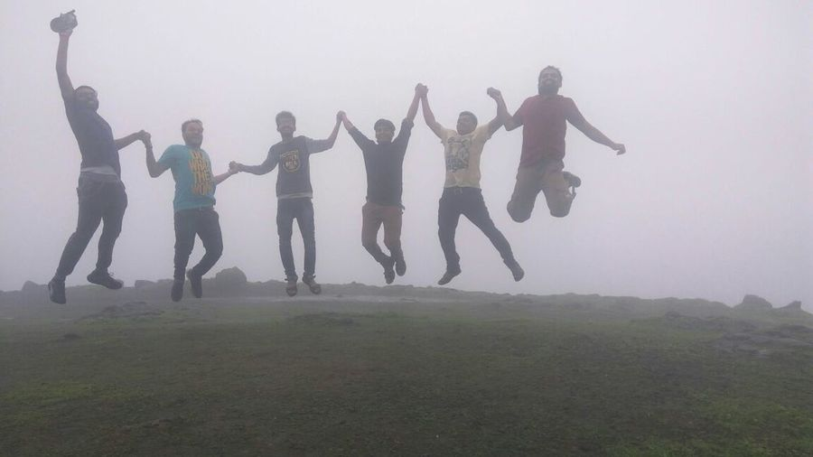 Outdoors Togetherness Day Fog Friends Forever! Natural Happyness