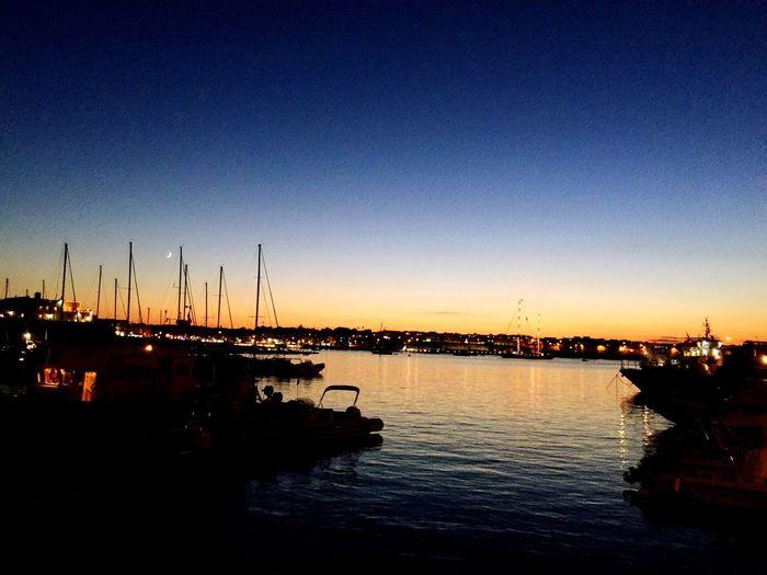 PortofOtranto Sunset Seaside Moon Boat Memories Summer