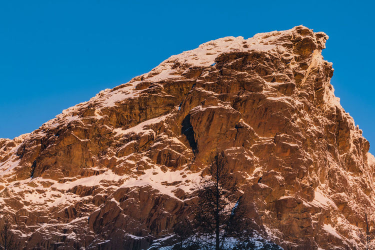 Rocks Alps Blue Clear Sky Landscape Landscape_Collection Landscape_photography Low Angle View Mountain Mountain Peak Nature Nature No People Outdoors Rock Rock - Object Scenic Scenics Sky Snow Sunrise Sunrise_Collection