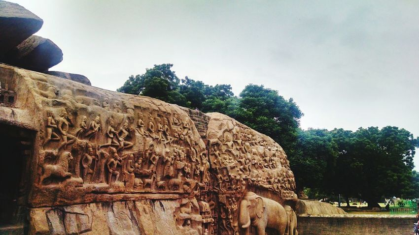 Mahabalipuram, India Outdoors Tree Day Stone Sculpture Architecture Protected Monument Neighborhood Map