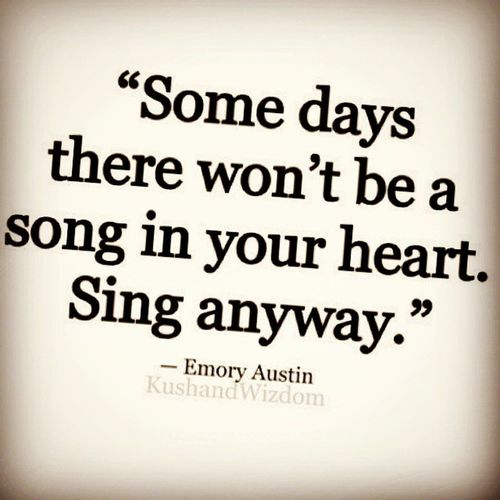 There's always something to sing about, of for nothing else but a memory. SingLoud SingProud
