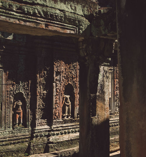 Siem Reap Cambodia Angkor Architecture Built Structure Religion History Spirituality The Past Building Place Of Worship Belief Old Travel Destinations Ancient Indoors  Old Ruin Tourism Day Architectural Column Travel No People Ancient Civilization