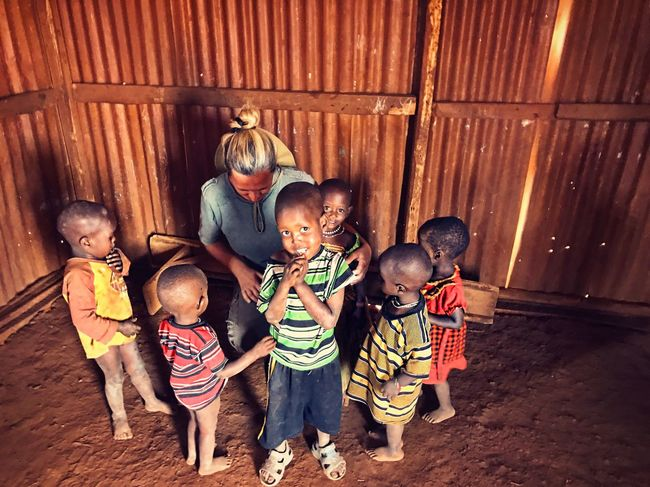 Childhood Child Males  Boys Togetherness People Friendship Females Baby Happiness Bonding Family With Three Children Outdoors Women African Children Masai Tribe Masai