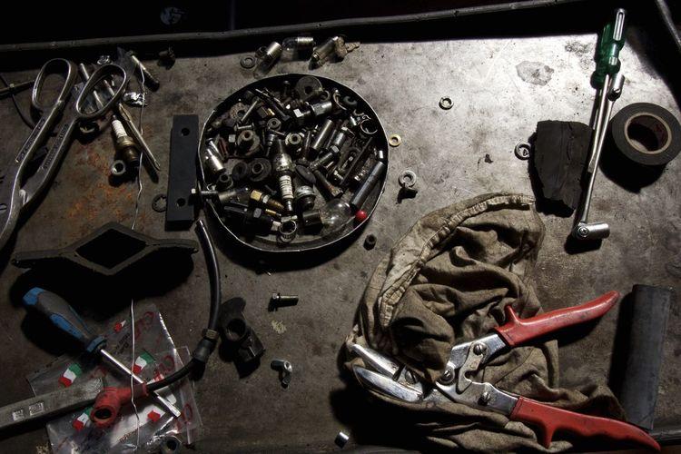 Garage Gauge Indoors  Machine Part Mechanic No People Work Tool Workshop