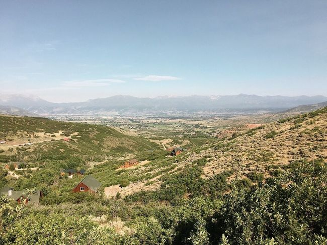 running hills this morning before the heat. Wasatch Mountains Utah Wasatch County Landscape Scenics - Nature Plant Beauty In Nature Sky Tranquil Scene Environment