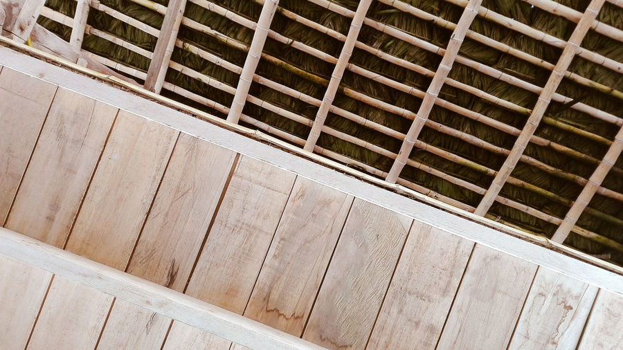Wooden roof. Outdoors Built Structure No People Day Wood - Material Wood Roof Beach Beach Life