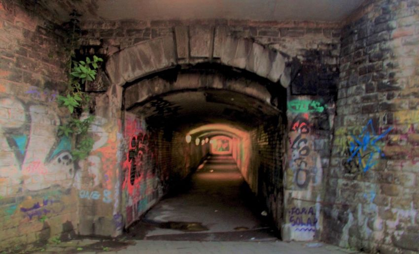 The Way Forward Built Structure Architecture Graffiti Tunnel Arch Indoors  Day No People Walkway Eye4photography  Outdoors Germany EyeEmNewHere EyeEmNewHere