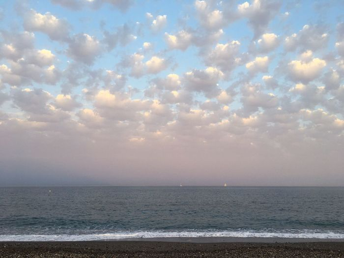 Sommergefühle Sea Water Horizon Over Water Scenics Tranquility Beauty In Nature Nature Tranquil Scene Sky Beach Idyllic No People Cloud - Sky Outdoors Sunset Day Wave Estepona