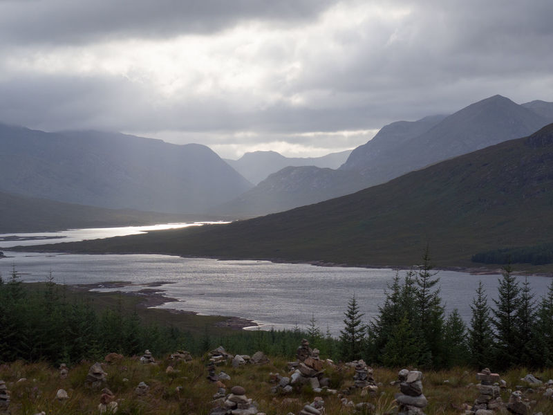 Scenic View of Loch Loyne from Roadside A87 Lightbeam Loch Loyne Scotland Beauty In Nature Break In Clouds Day High Contrast Highlands Light And Shade Mountain Nature No People Outdoors Scottish Highlands Sky