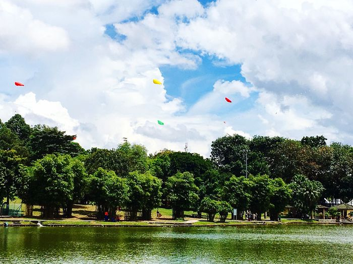 Cloud - Sky Tree Water Outdoors Beauty In Nature Windy Day Pasir Gudang World Kite Festival EyeEmNewHere Breathing Space