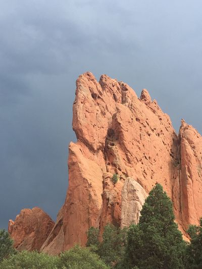 First Eyeem Photo IPhoneography Garden Of The Gods Scenery Beauty In Nature Nature Clouds And Sky No Filter No Filter Needed Red Rocks