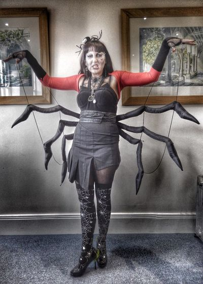 Dressing up for Halloween - totally worth it Halloween Halloween Horrors Halloween_Collection Halloween Costumes Halloween Costume Spider Costume Spider Woman Spiderwoman Dressed As A Spider Halloween Makeup Halloween2015 Halloween! Halloweenmakeup Scary Costume Scary Halloween Dressing Up Dressing Up Costume