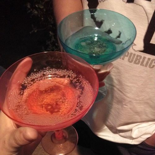 Drinkin that champaign (: Withtheboo