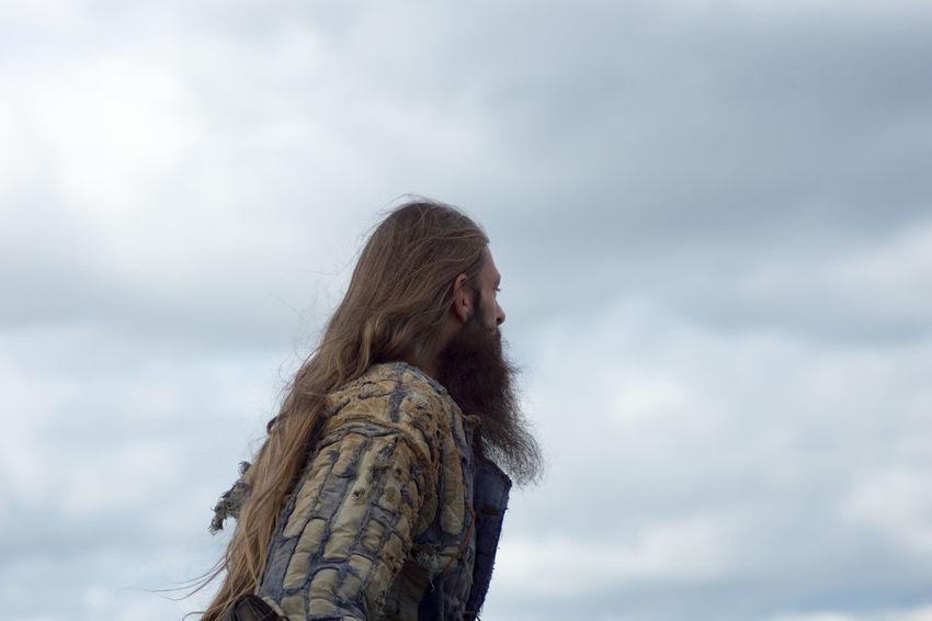 Beard Cloudy Hair Curls Long Hair Man No Rain Tresses Viking Viking Costume