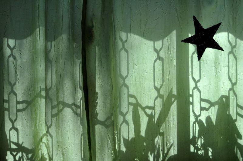 Full frame shot of curtain on window