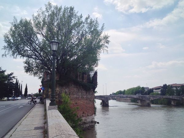 137/365 2017 One Year Project May 17 Verona Verona Italy Veneto Adige River Italy Architecture Medieval Sky Bridge - Man Made Structure Architecture River Tree Water Connection Built Structure Transportation Cloud - Sky Day Outdoors Building Exterior City No People Nature