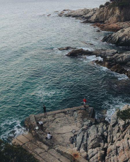 Somewhere between Sant Antoni de Calonge and Platja d'Aro Cliff Costabrava Rockfishing