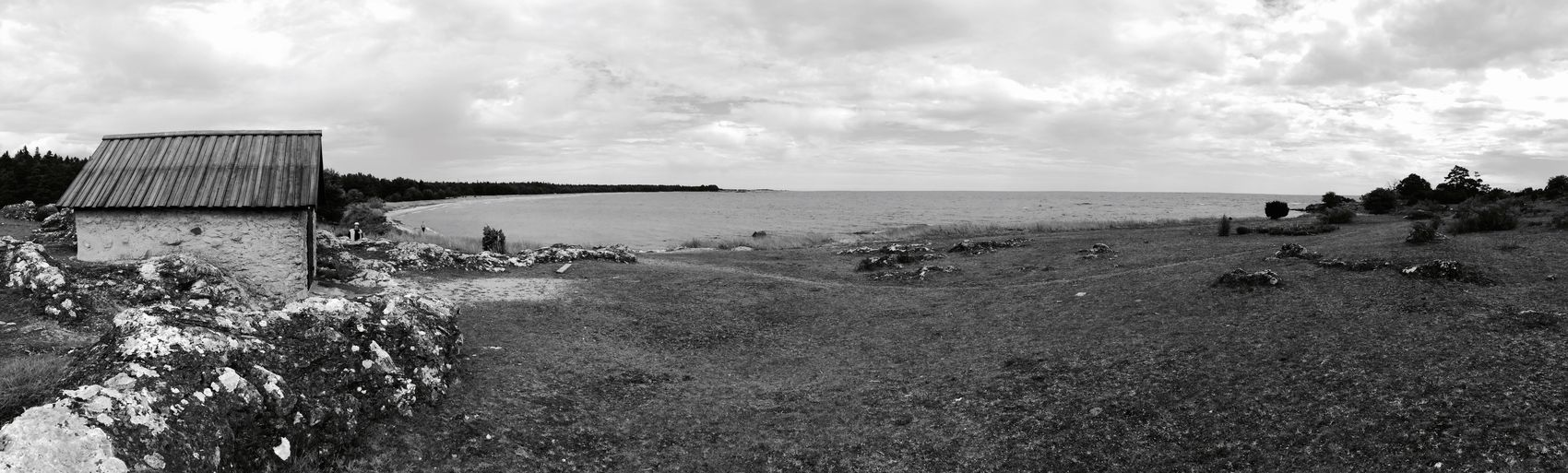 Home The KIOMI Collection IPhoneography Darkness And Light Melancholy Sea Rocks Island Gotland Eye4black&white  Blackandwhite Photography Panorama