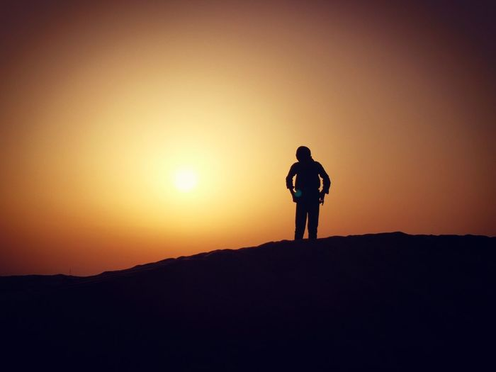 Full Length Sunset Standing Adventure Men Politics And Government Silhouette Mountain Hiking Mid Adult