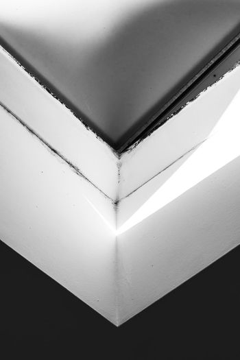 Black and White Roof Architecture Black And White Black And White Photography Close-up Corner Day Deep Geometric Shape Grey Indoors  Interior Light And Shadow Minimalism No People Roof Shadow Shadows & Lights Shape The Architect - 2017 EyeEm Awards