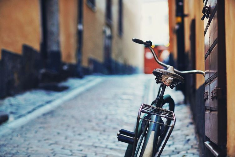 Bicycle Focus On Foreground Handlebar Land Vehicle No People Musical Instrument Outdoors Day Lieblingsteil