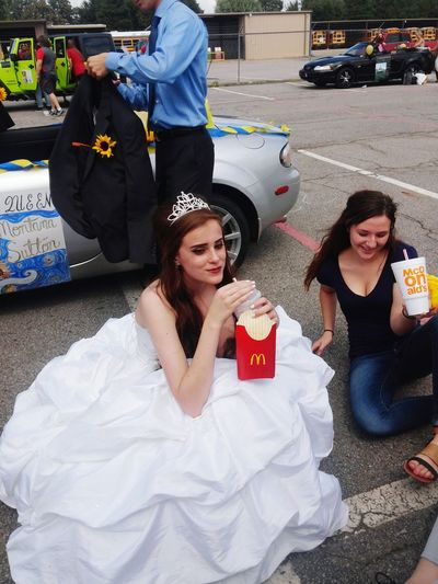 People And Places Homecoming My Daughter 2016 Art Queen Dress Formal Daughter Mcdonalds Eating Beautiful Fun Day Taking Photos Check This Out Enjoying Life Hanging Out Photographer High School Class Mates School Memories Share The Meal