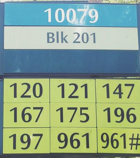 A Bus Numbers Signage Bus Numbers Communication Alphabet Text Number Signboard