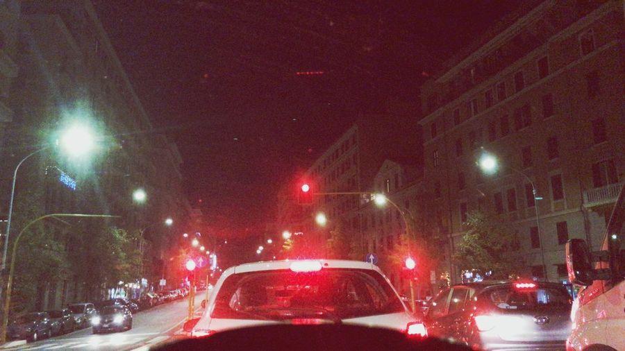City Transportation Car Motor Vehicle Night Mode Of Transportation City Illuminated Street Traffic Headlight Road Street Light Tail Light Travel No People Motion Land Vehicle Architecture City Life Built Structure