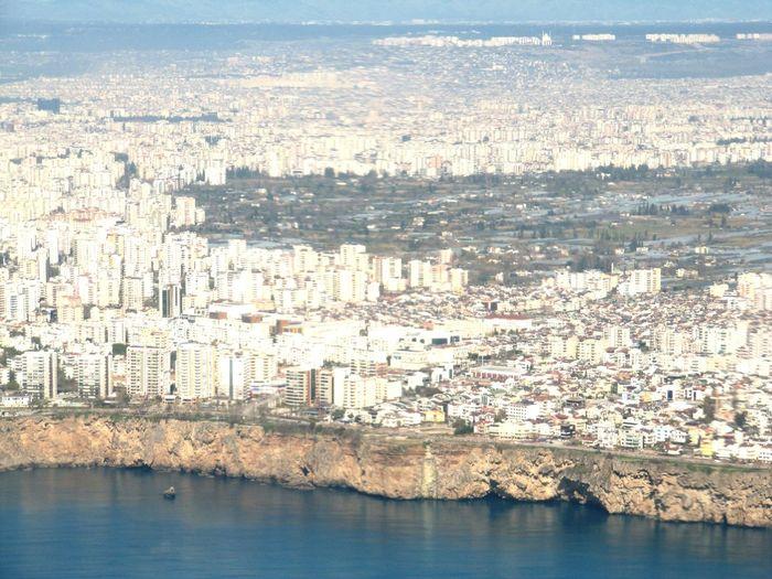 Türkiye Sky Feeling From Airplane Window Vom Flugzeug Aus Bird Perspective Perspective Perspective_city City Skyline / 03.2013 Antalya