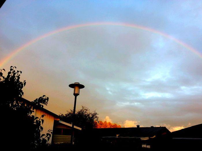 A Rainy Day Rainbow Sky