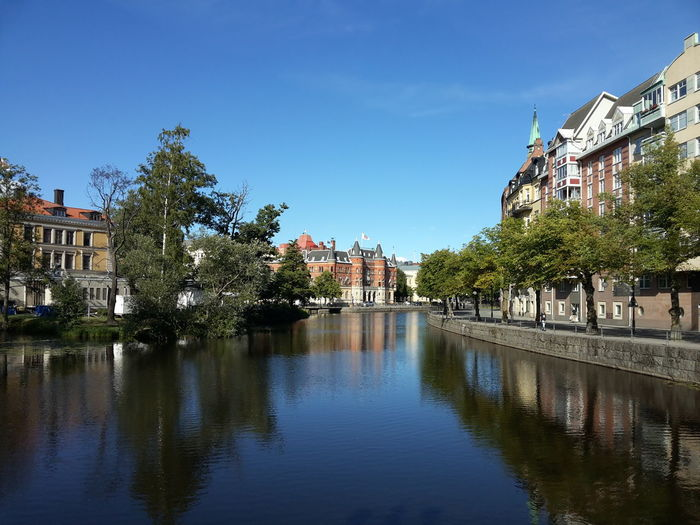 Schweden Sweden City Water Tree Cityscape Reflection River Sky Architecture Building Exterior Built Structure Old Town Waterfront Town Canal