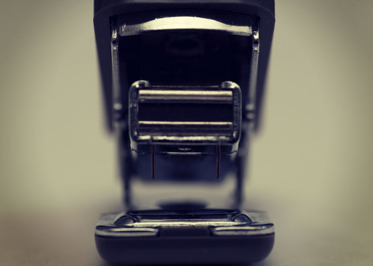 Stapler Aggressive Anthropomorphic Close Up Close-up Jaws Likeness Macro Metal Metaphor Mouth Open No People Object Office Equipment Office Supply Selective Focus Stapler Still Life Teeths Tool