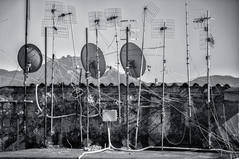 Antennas on built structure